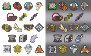 Free-To-Use Custom Pokemon Gym Badges by icycatelf