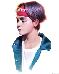 Taehyung V BTS by Lean13