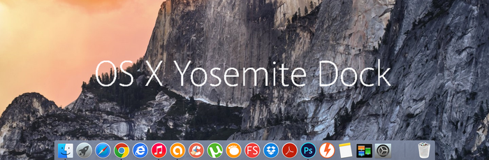 OS X Yosemite Dock by vndesign