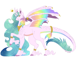 Princess Prisim Star the Alicorn Kirin Dragon (CE) by TheArticPegasus