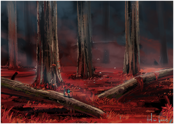Red Forest by LeBeau
