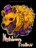 Nightmare fredbear [FNaF 4] by NiKirigamy