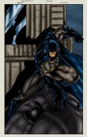 Batman On Gargoyle Colored by likwidlead