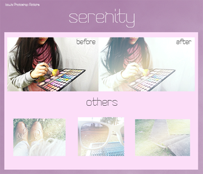 Photoshop Action- Serenity by bowfanatic