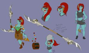 Dimensiontale Undyne Reference Sheet by catgir