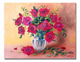 Red roses by 27Adam
