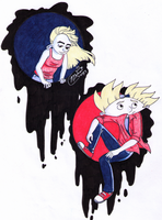 Artsy Arnold and Helga by nicolemtracy
