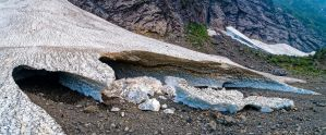 Big Four Ice Caves 1 by PNWDronetography