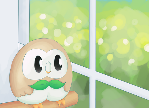A Window Rowlet by EldritchBliss