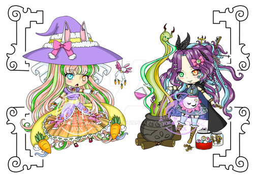 {closed} Chibi Witches : flatsale by kar-tilki