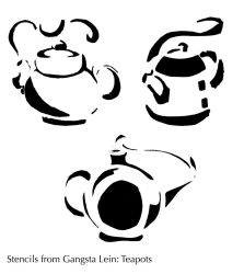 Stencils of Teapots by thetani