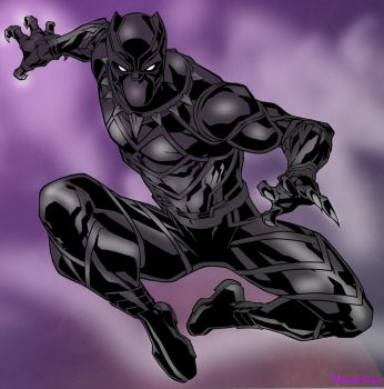 King T'Challa as the Black Panther by Reita697