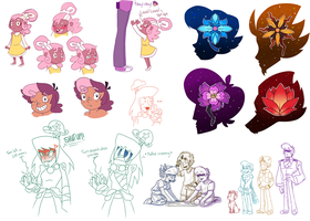 Freaking Out Sketch Dump by Misskitkatmadness