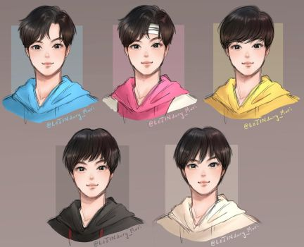 Jin's hair timeline by Mari945