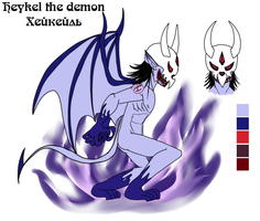 Heykel the demon reference by lizathehedgehog
