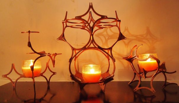 Wooden Candle Holder by Ryu-no-Ojyo