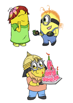 (late)birthday Minions by FeralSonic