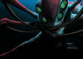 SUBNAUTICA: The Reaper Leviathan [Digital Fanart] by Adam-The-Person