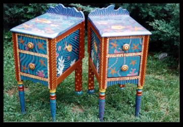 Whimsical Fish End Tables by ReincarnationsDotCom