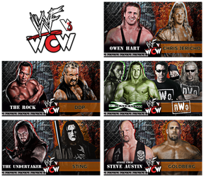 WWF vs WCW : Draft Game Card by DNGRLIAM
