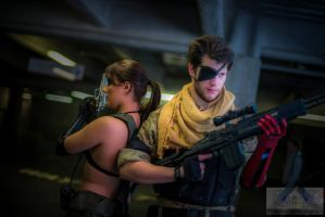The Phantom Pain - Quiet and Punished Snake by IXISerenityIXI