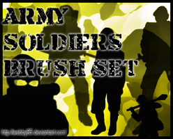 Army Soldiers Brush Set by webby85