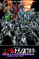 Godzilla and Transformers Villains Cover by NestieBot