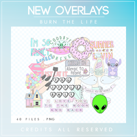 New Overlays |PNG PACK| by Burn-the-life