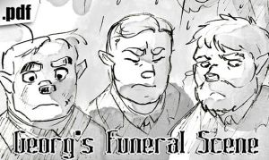 Georg's Funeral Scene by ThirdPotato