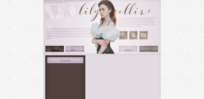 free/premade design ft. Lily Collins by designsbyroth