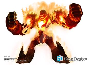 Fire golem by GrandDesign-Artteam