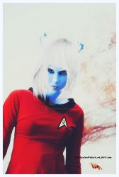Star Trek - andorian Female by cherie-stenson