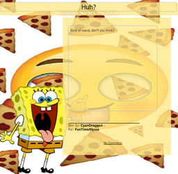 SpongeBob and Pizzas Journal Skin |Req| by CyanDraggon