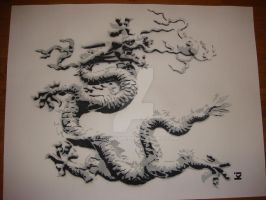 Chinese dragon stencil by makobsan