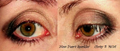 'New Year's Sparkles' makeup by TheRaven1988