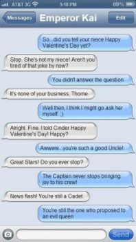 Conversation between Kai and Carswell by feels-ships-fandoms