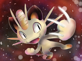 Meowth EX Artwork by nintendo-jr