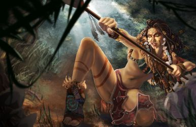 Tribal Nidalee (2014 Riot Contest) by ch0co-pudding