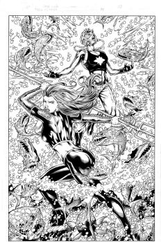Teen Titans 84 pg 03 Inks by Mariah-Benes