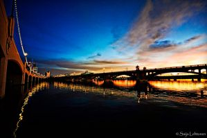 Tempe Town Lake Sunset by CeeThruMyEyes