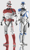 Clonetroopers (Phase II 501st Legion and Shocktroo by Yare-Yare-Dong