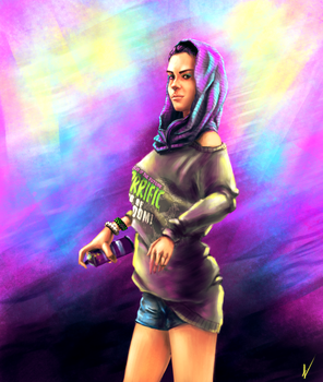 Watch Dogs 2 fanart - Sitara by ngenoART