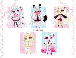 [OPEN] Adoptable 106 - KEMONOMIMI AUCTION by Puripurr