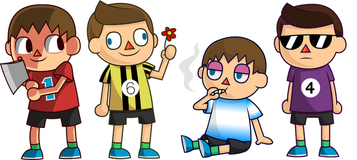 Villager Bros. (SSB4) by Zerocakes