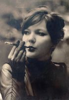 lady with a cigarette by Anti-Pati-ya