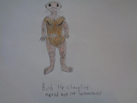 Bob the changling nakid mole rat sommoner by woodywoodwood
