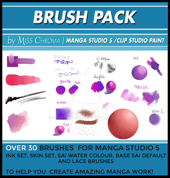 Brush Pack for Manga Studio 5 or CLIP by MissChroma