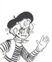INKtober Day 8: Mime by bluestarproduction