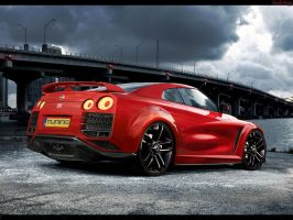 Nissan GT-R by blackdoggdesign