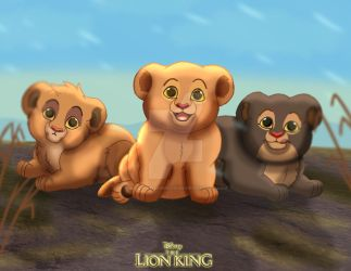 For EshekiAmira: Baby Nala and her Sisters by imaginativegenius099